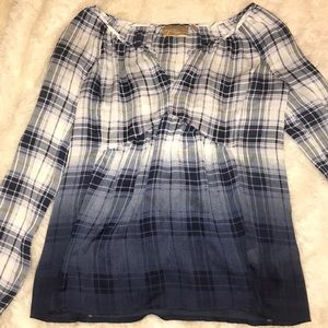 Vera Wang Plaid Blouse